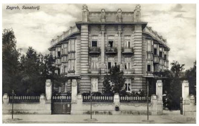 Zgrada sanatorija u Klaićevoj iz koje je izrasla današnja Klinika za dječje bolesti bila je u jednom razdoblju i omiljeni motiv zagrebačkih razglednica